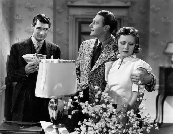 THE AWFUL TRUTH, Cary Grant, Ralph Bellamy, Irene Dunne, 1937